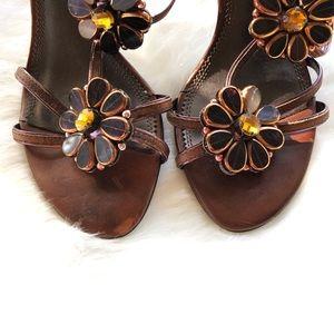A. Marinelli Embellished Rhinestones Sandals